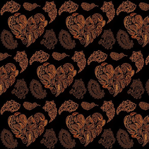 PASSIONATE PAISLEY HEARTS