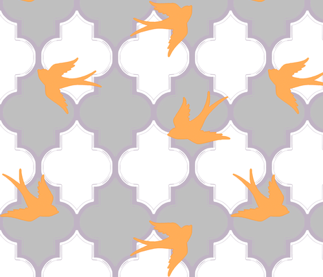 Birds in Marrakesh fabric by sparrowsong on Spoonflower - custom fabric