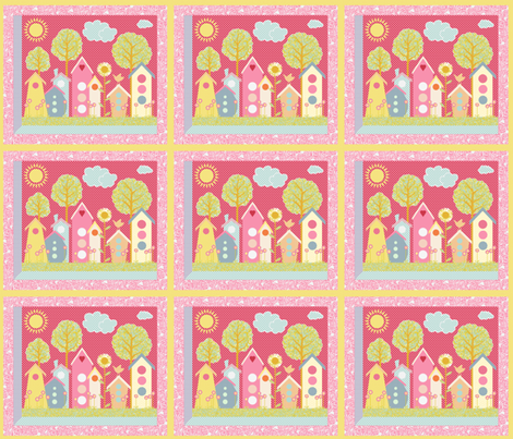 A View of the Neighborhood (a windowpane panel) fabric by vo_aka_virginiao on Spoonflower - custom fabric