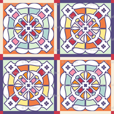Stained glass cheater quilt