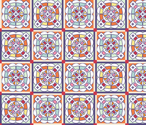 Stained glass cheater quilt fabric by don't_call_me_kitten on Spoonflower - custom fabric