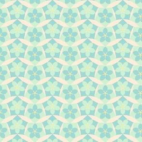 Floral Wave  -Spring floral Quilt Block Coordinate
