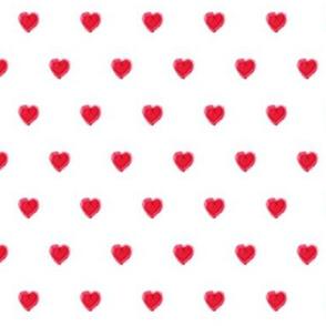 Watercolor polkadots hearts