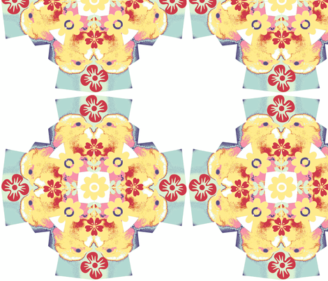 quilt chick floral cross fabric by cathymcg on Spoonflower - custom fabric