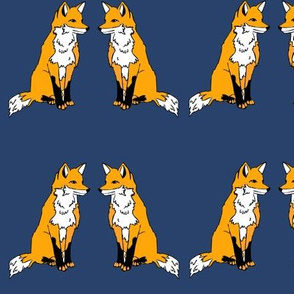 Foxes Dark Blue