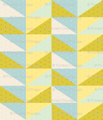 Flying Geese Quilting Pattern with Polka Dots