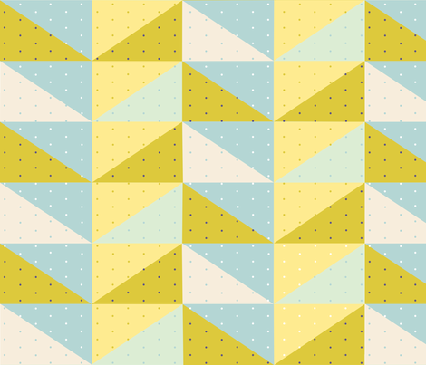 Flying Geese Quilting Pattern with Polka Dots fabric by printedchicago on Spoonflower - custom fabric