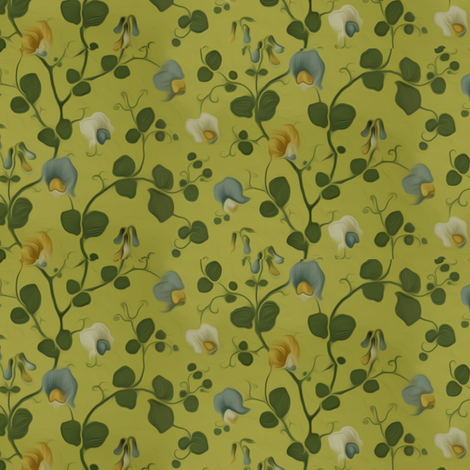 Sweet pea fabric by nlsd on Spoonflower - custom fabric