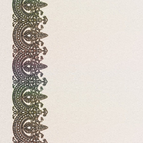 Antique lace border