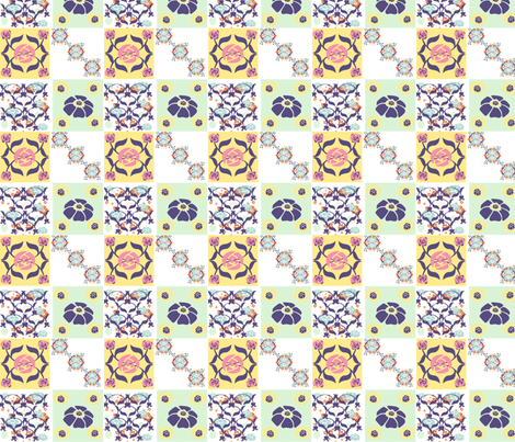 Art nouveau influence fabric by pollyesta on Spoonflower - custom fabric