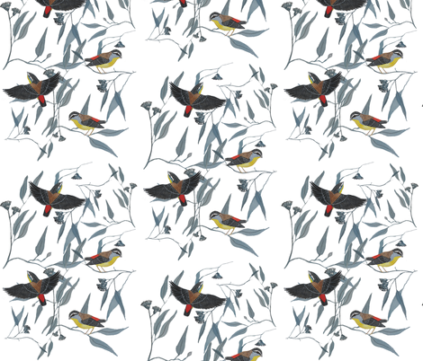 Spotted Pardalote fabric by jenniferhulme on Spoonflower - custom fabric
