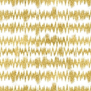 Thin Gold Glitter ZigZag Stripe with White