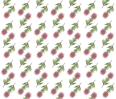 Bottlebrush fabric by jenniferhulme on Spoonflower - custom fabric
