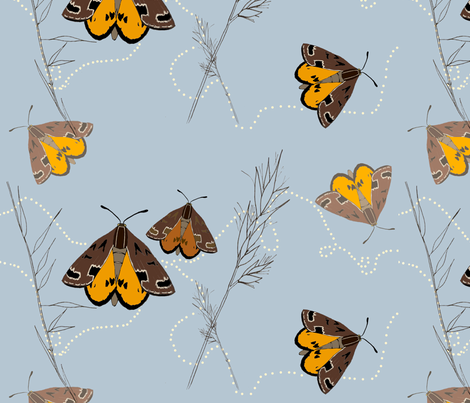Golden Sun Moth fabric by jenniferhulme on Spoonflower - custom fabric