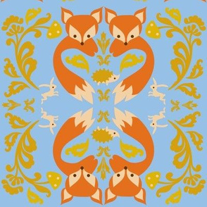 Ornate Fox Blue
