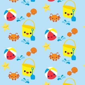 Cute Beach Toys - Light Blue