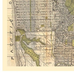 Vintage Map of SF Pillow Kit