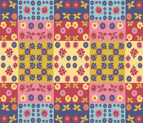 Caroles_Floral_Quilt2 fabric by scifiwritir on Spoonflower - custom fabric