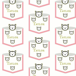 Pocket Critters Pink Kitty Personalized
