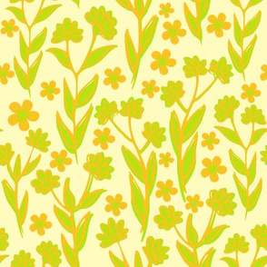 Lemon lime fields (floral candy)