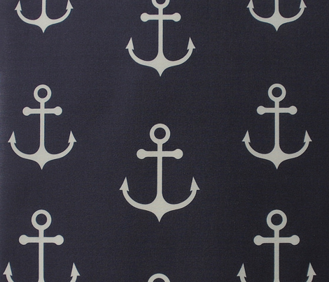 Anchor Navy (Hourglass)