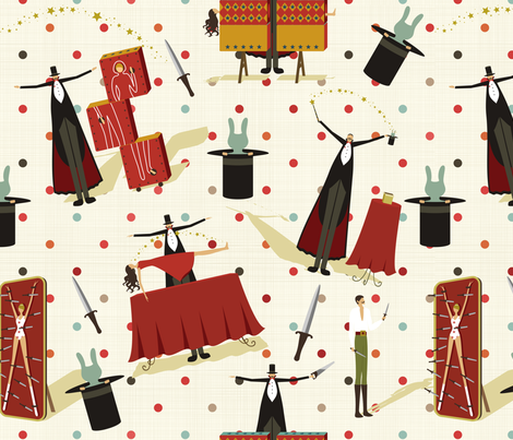 Prestidigitation fabric by vicky_s on Spoonflower - custom fabric