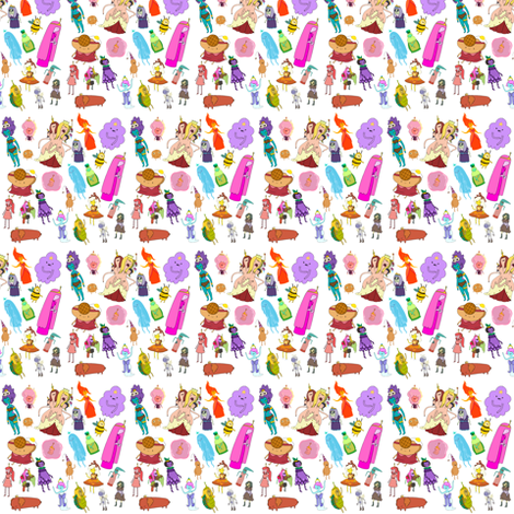 PRINCESS SMALL fabric by moremeknow on Spoonflower - custom fabric