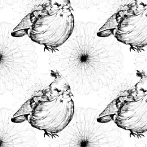 Birdy and Flora Pattern
