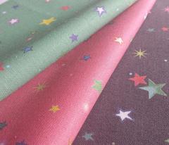 Bright Rainbow Starfield on Strawberry Pink