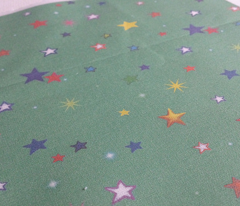 Rainbow Starfield on Seafoam Green