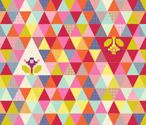 Triquilt fabric by suestrobel on Spoonflower - custom fabric