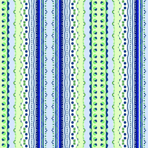 Blue and Green Delicate Stripe
