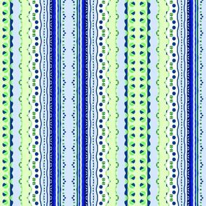 Blue and Green Delicate Stripe