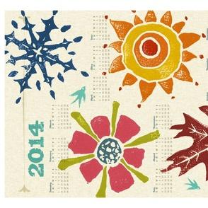 2014 Calendar Towel