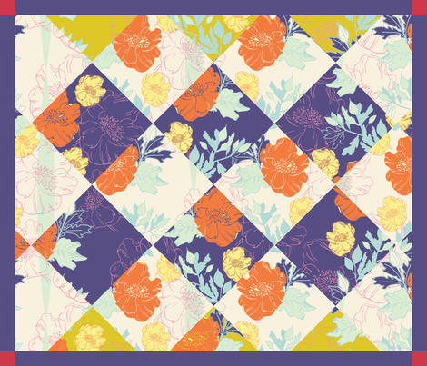 Spring Cheater Quilt fabric by sarah_nussbaumer on Spoonflower - custom fabric