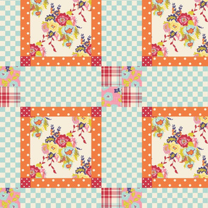 Spring Cheater Quilt Block 3