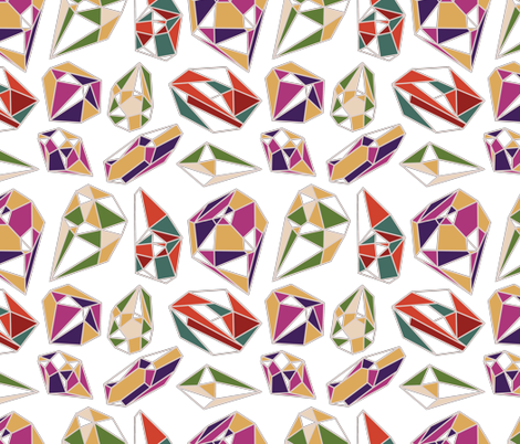 Gems fabric by coleheart on Spoonflower - custom fabric