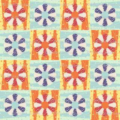 Lazy Dresden Flower Cheater Squares