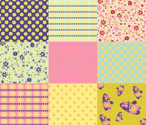 spoonflower_spring_quilt fabric by bird&bloom on Spoonflower - custom fabric