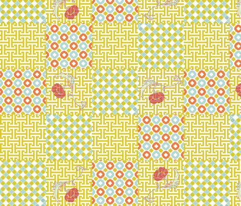 seaside_poppies fabric by meli_lees on Spoonflower - custom fabric