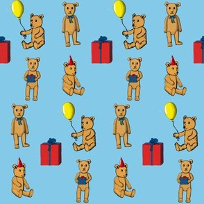 Teddy Bear's birthday in blue