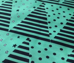 Mint Green Black Triangle Bunting Pennants, Star Spot Stripe