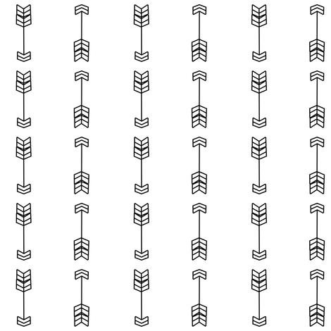 Bold arrows Black and white fabric by daniellereneefalk on Spoonflower - custom fabric