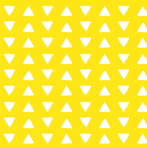 hand drawn triangles yellow