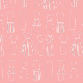 Vintage Dressmaker Fabric, Pink