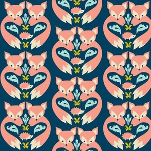 Fox Print Teal