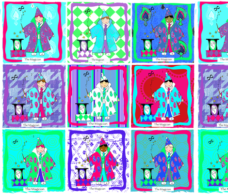The Magician Tarot Card - Magic Show fabric by lisakling on Spoonflower - custom fabric