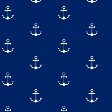 Anchor Cobalt Blue fabric by kimsa on Spoonflower - custom fabric