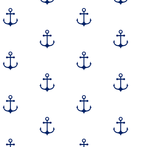 Anchor White - Cobalt Blue fabric by kimsa on Spoonflower - custom fabric