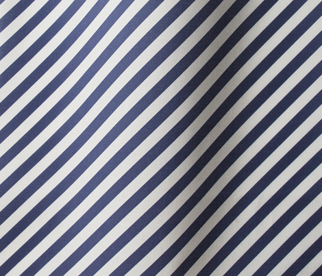 Diagonal Stripes - Cobalt Blue
